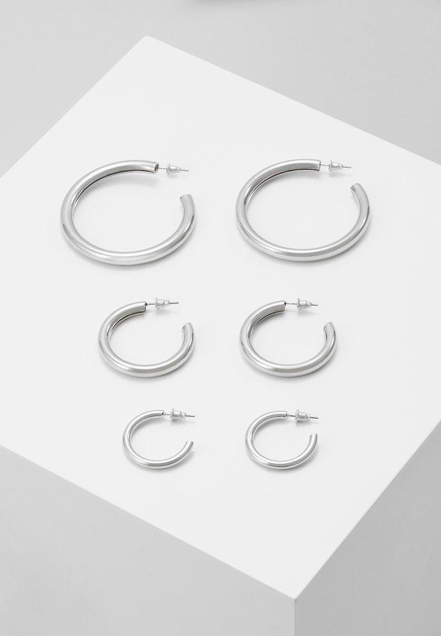 CHUNK 3 PACK - Örhänge - silver-coloured