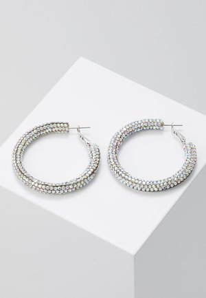 WIN PAVE TUBE HOOP - Earrings - light blue