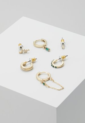 FINE SNAKE SET - Oorbellen - gold-coloured/green