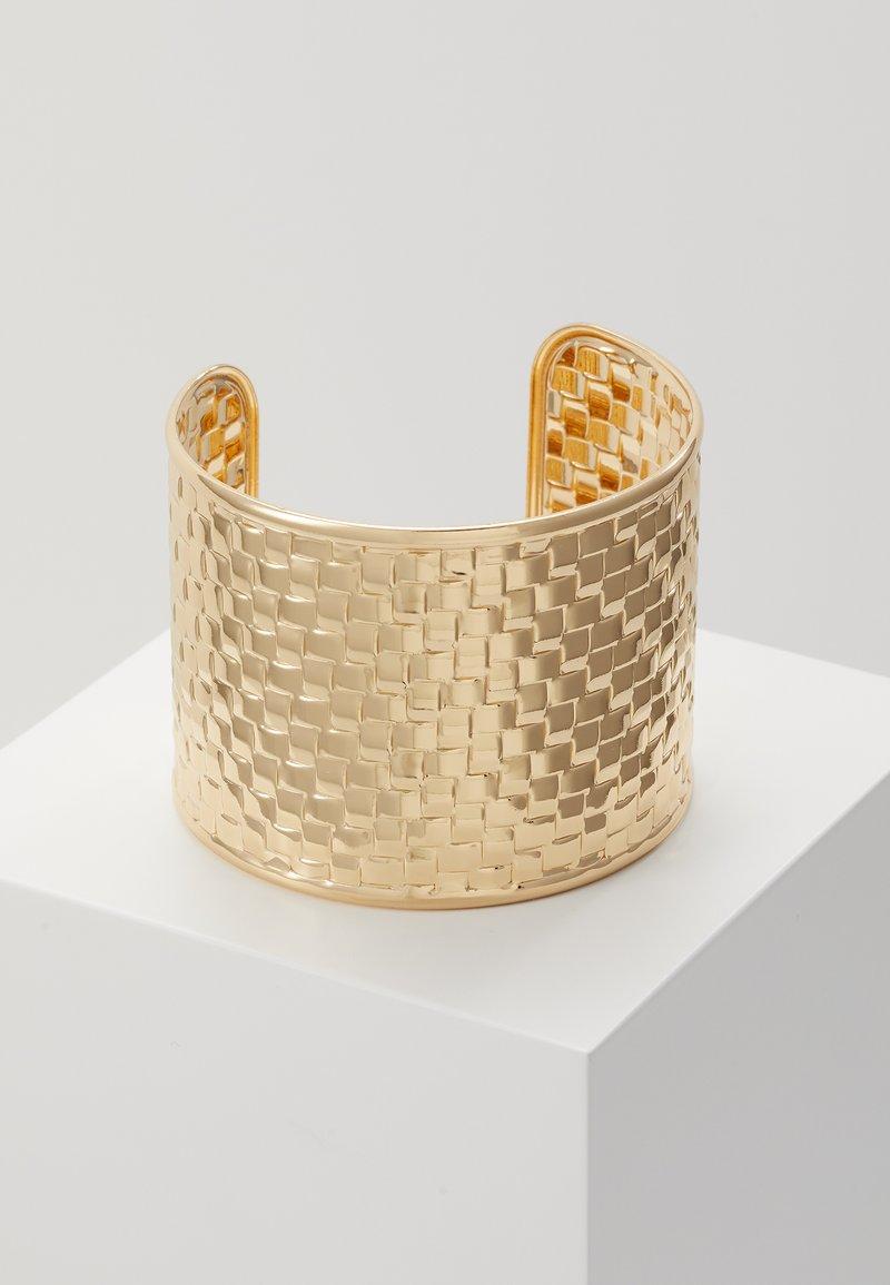 Topshop - WIN WIDE WOVEN  - Bracelet - gold-coloured