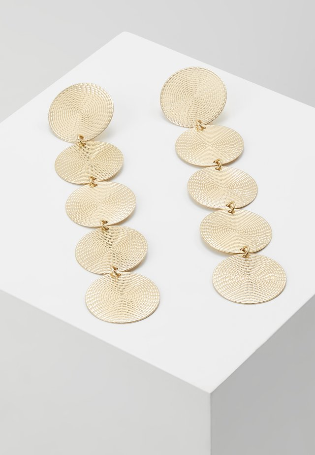 WIN LONG DISC DROP - Earrings - gold-coloured