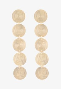 Topshop - WIN LONG DISC DROP - Oorbellen - gold-coloured - 3