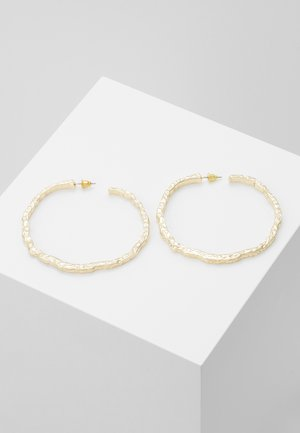 TEXT OVERSIZE - Earrings - gold-coloured