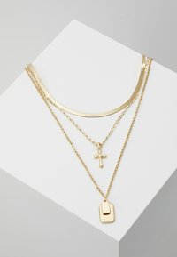 Topshop - TAG CROSS - Necklace - gold-coloured - 0
