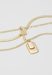 Topshop - TAG CROSS - Necklace - gold-coloured - 4
