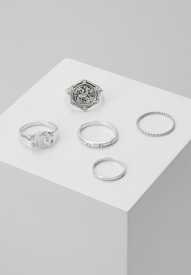 HEX URBAN 5 PACK - Anillo - silver-coloured