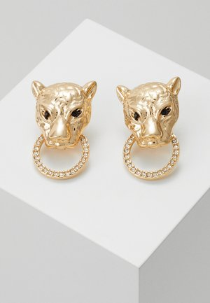 LEOPARD PAVE - Earrings - gold-coloured