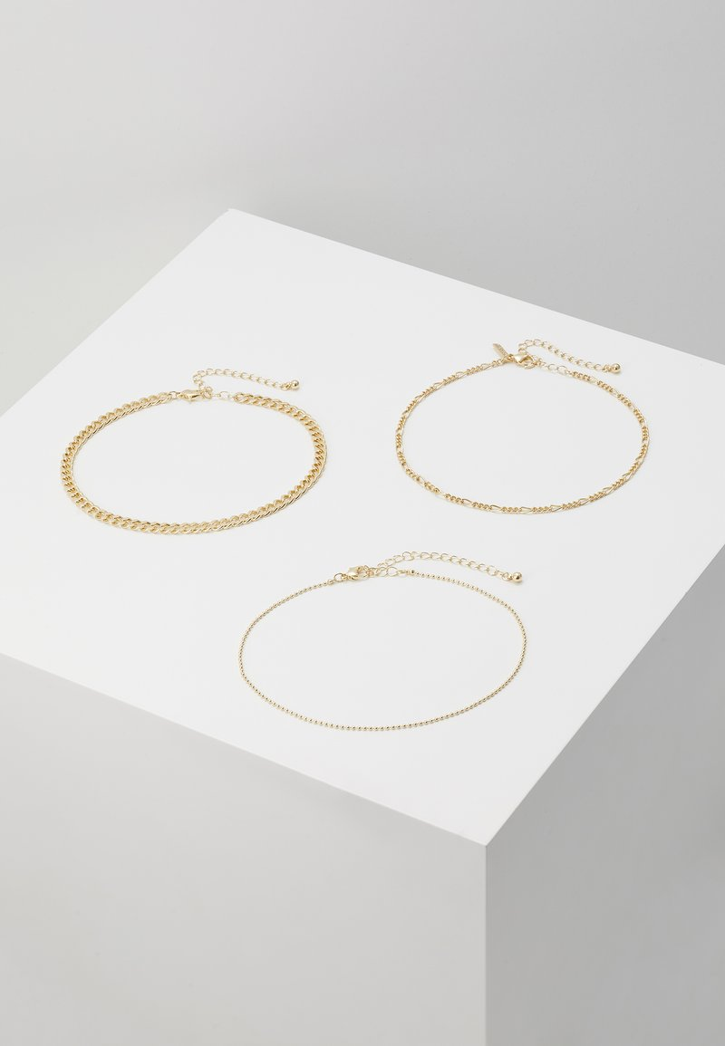 Topshop - THIN BALL 3 PACK  - Halsband - gold-coloured