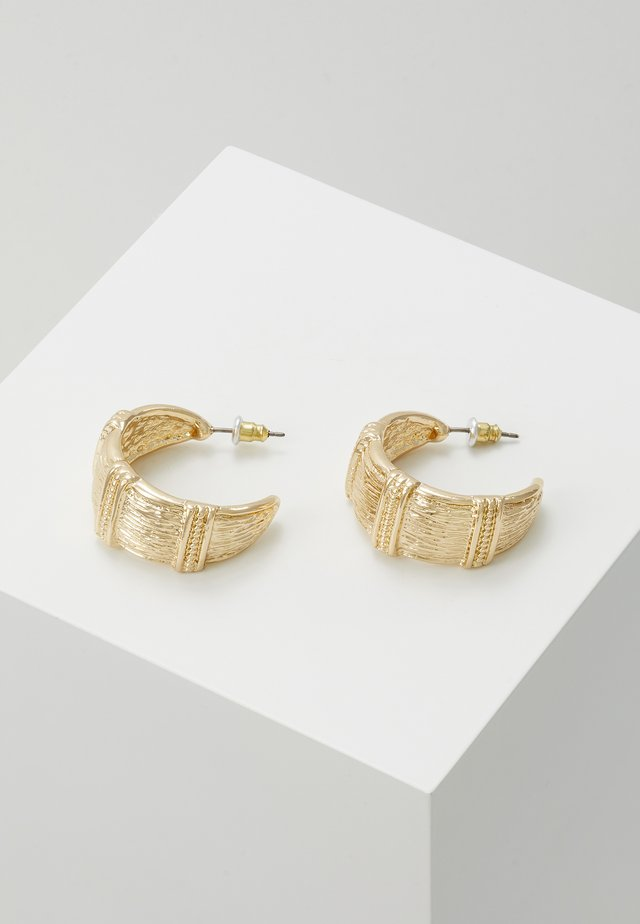 TEX RIDGE HOOP - Örhänge - gold-coloured
