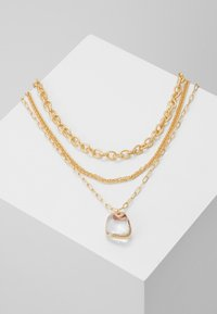 Topshop - CLEAR BEAD 3 PACK - Necklace - gold-coloured - 0