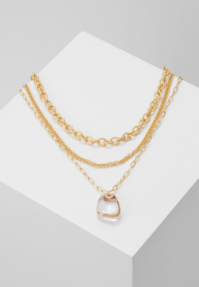 Topshop - CLEAR BEAD 3 PACK - Necklace - gold-coloured