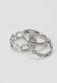 Topshop - LOCK 3 PACK - Ringar - silver-coloured - 2