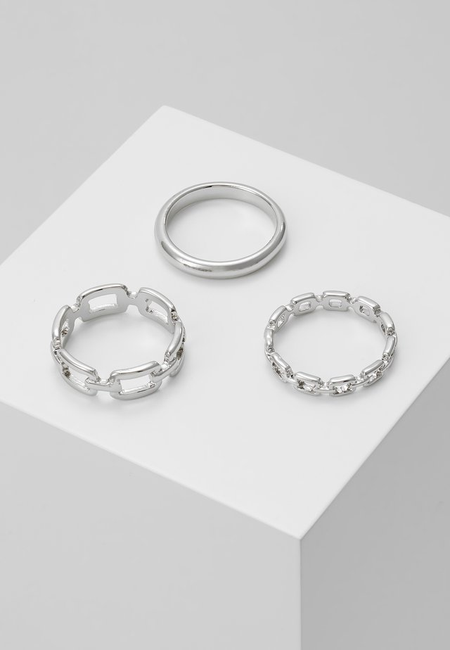 LOCK 3 PACK - Ringe - silver-coloured
