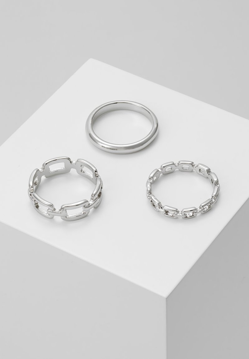 Topshop - LOCK 3 PACK - Ringar - silver-coloured