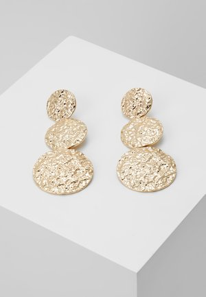 HAMMERED LINEA - Earrings - gold-coloured