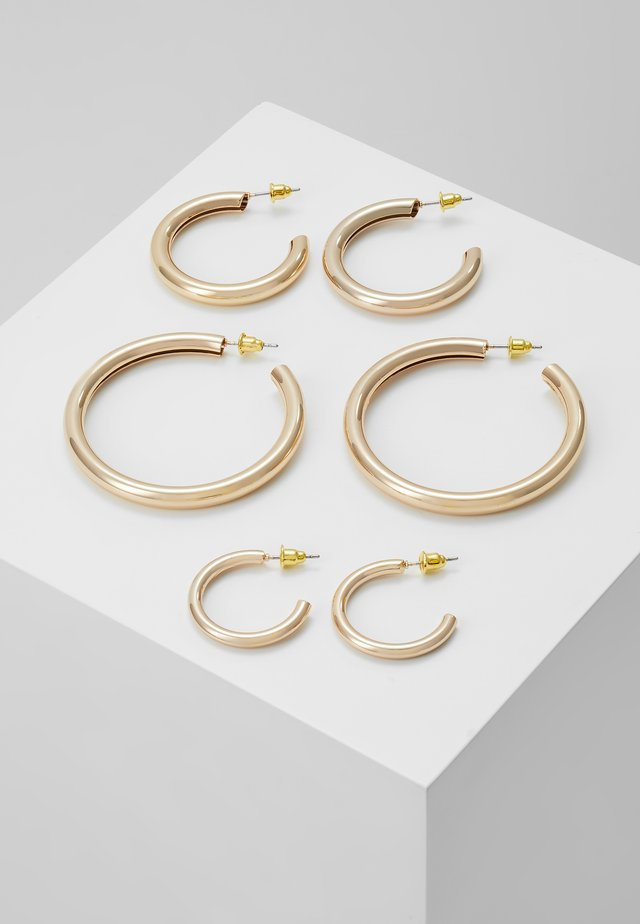THICK HOOP 3 PACK - Korvakorut - gold-coloured