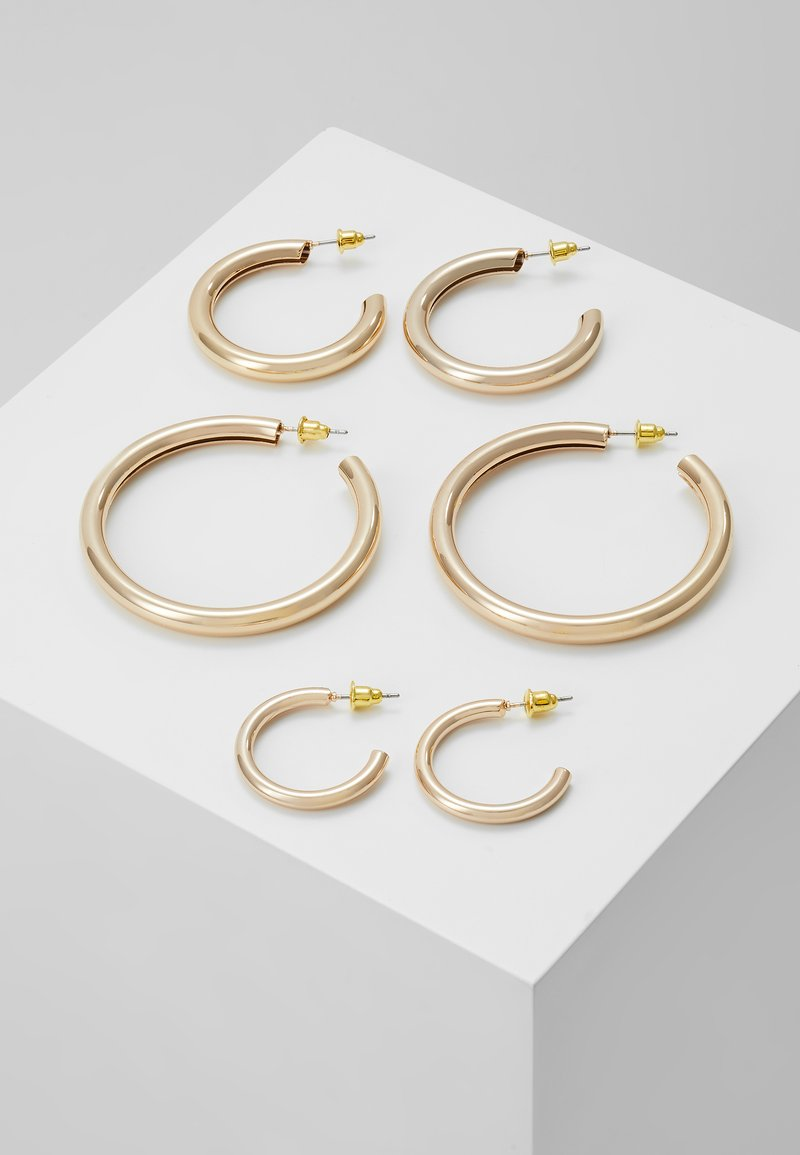 Topshop - THICK HOOP 3 PACK - Korvakorut - gold-coloured