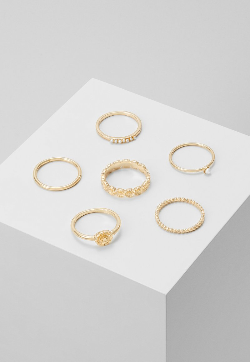 Topshop - DAISY 6 PACK - Ringe - gold-coloured