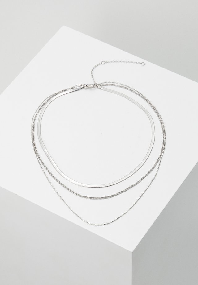 FINE MIX CHAIN - Necklace - silver-coloured