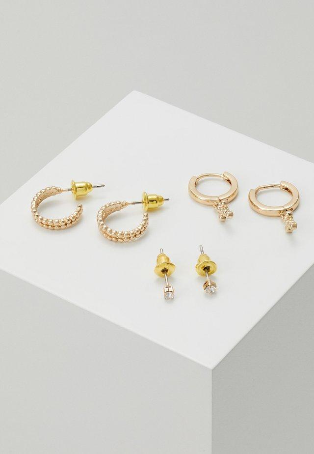 FINE MIX CROSS HOOP 3 PACK - Earrings - gold-coloured