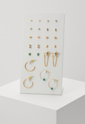 EARRING 12 PACK - Øreringe - gold-coloured