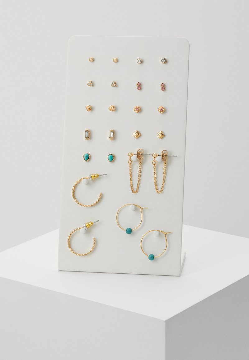 Topshop - EARRING 12 PACK - Pendientes - gold-coloured