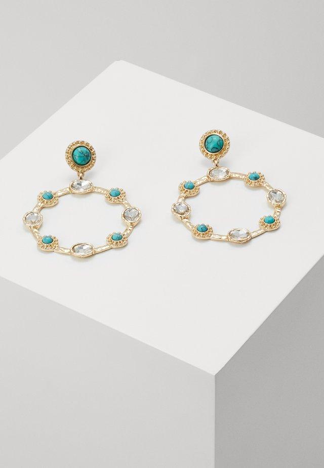 CIRCLE DROP - Earrings - blue