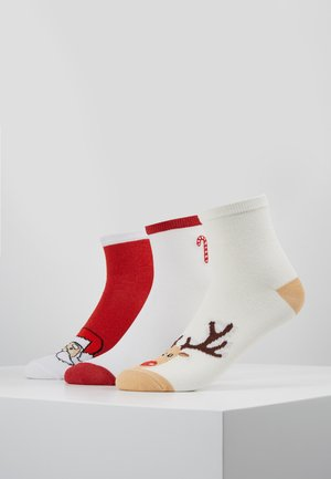 CANDY CANE REINDEER SANTA SOCKS 3 PACK - Chaussettes - multicoloured