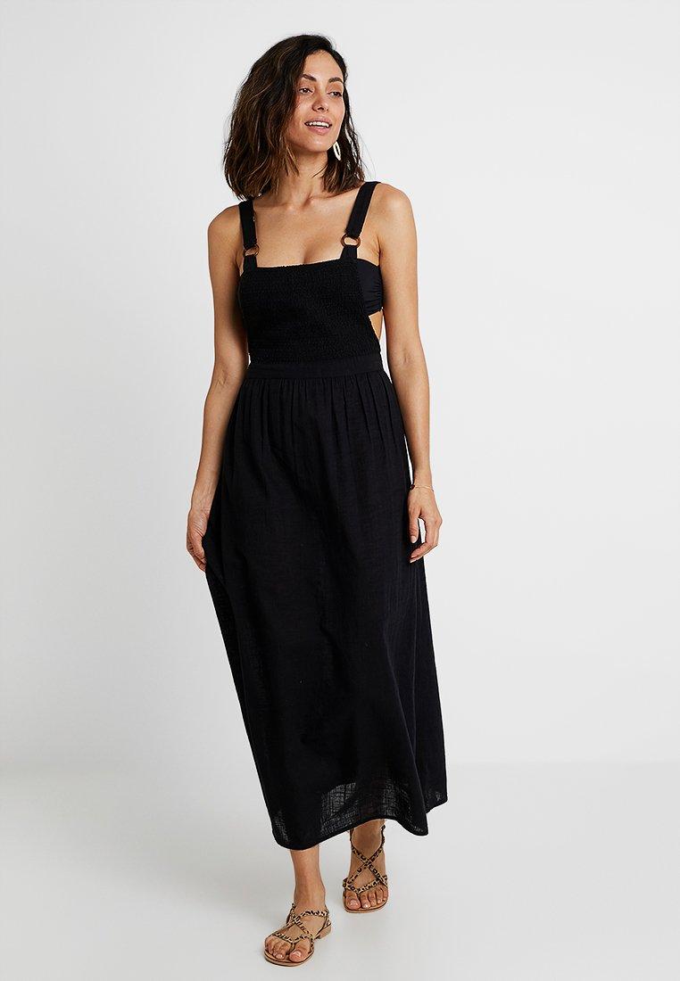 Topshop - SHIRRED DRESS - Beach accessory - black