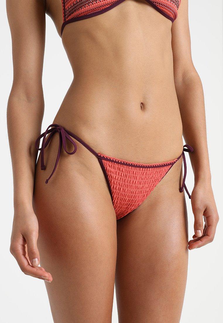 Topshop - SHIRRED EMBROIDERED TIE SIDE - Bikiniunderdel - orange