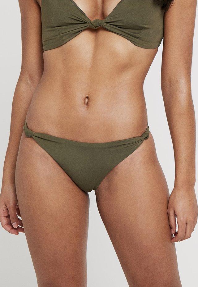 PLAIN KNOT SIDE PANT - Braguita de bikini - khaki