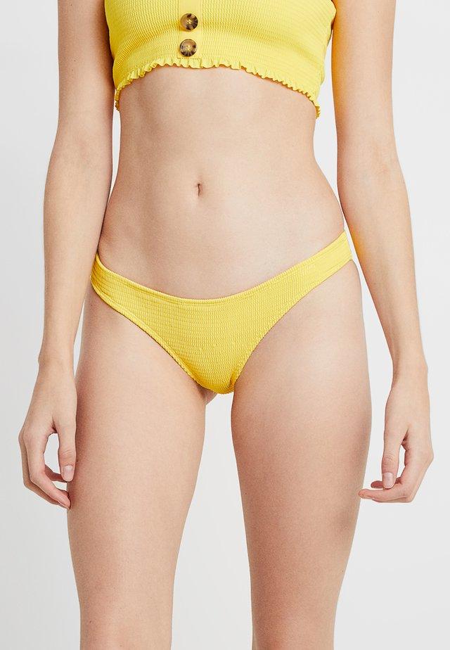 SHIRRED BOTTOM - Bikini pezzo sotto - yellow
