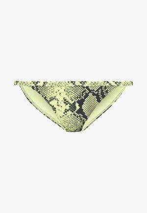 SNAKE TANGA - Bikini bottoms - neon yellow