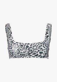 Topshop - ANIMAL SPOT SQUARE NECK CROP - Haut de bikini - monochrome - 3