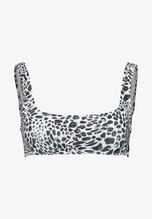 ANIMAL SPOT SQUARE NECK CROP - Bikinitop - monochrome