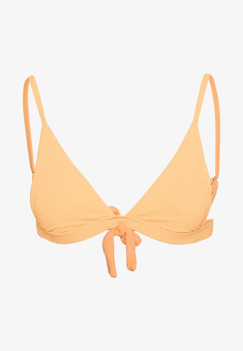 Topshop - HI APEX SHIRRED - Bikiniöverdel - mango