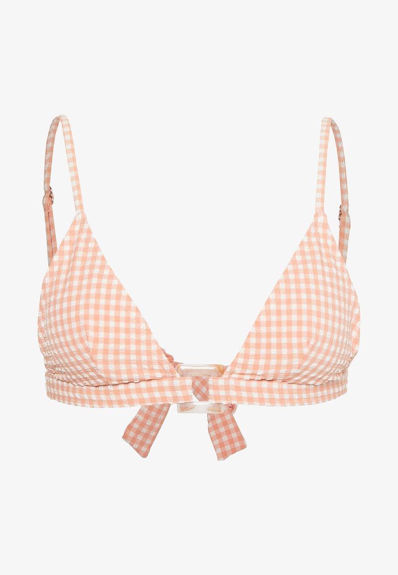 Topshop - SEERSUCKER RING - Bikiniöverdel - peach