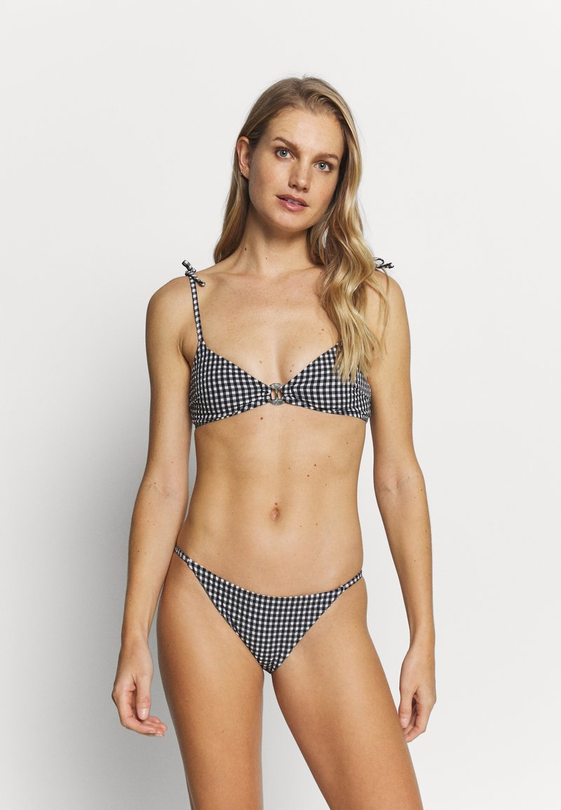 Topshop - GINGHAM RING CROP & PANT SET - Bikini - mono