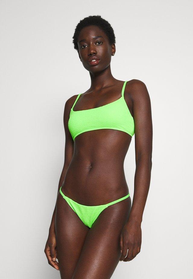 CRINKLE CAMI TANGA SET - Bikini - lime