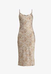 Topshop - BAMBI SLIP DRESS - Nightie - white/light brown - 4