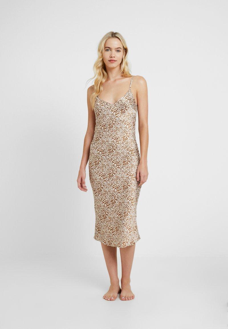 Topshop - BAMBI SLIP DRESS - Nightie - white/light brown