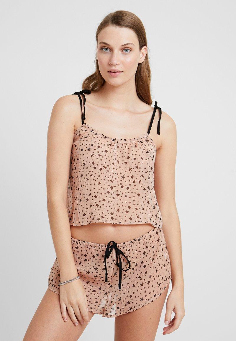 Topshop - SHEER STAR SET - Pyjamas - nude