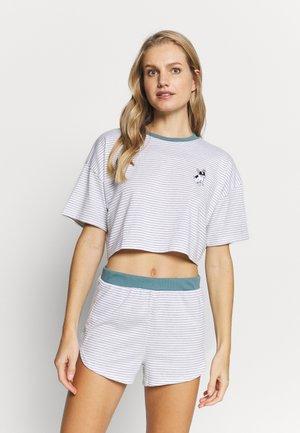 FRENCHIE BOXY SET - Pyžamo - blue/white