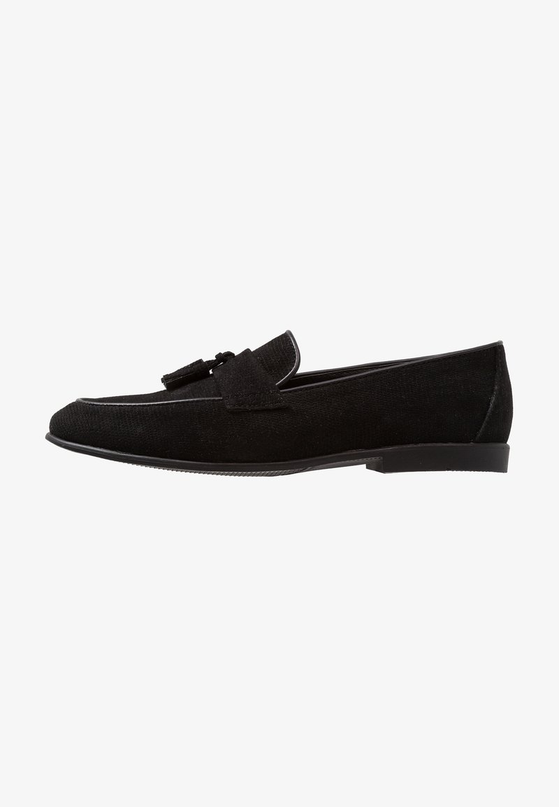 Topman - PRINCE LOAFER - Smart slip-ons - black