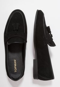 Topman - PRINCE LOAFER - Smart slip-ons - black - 1