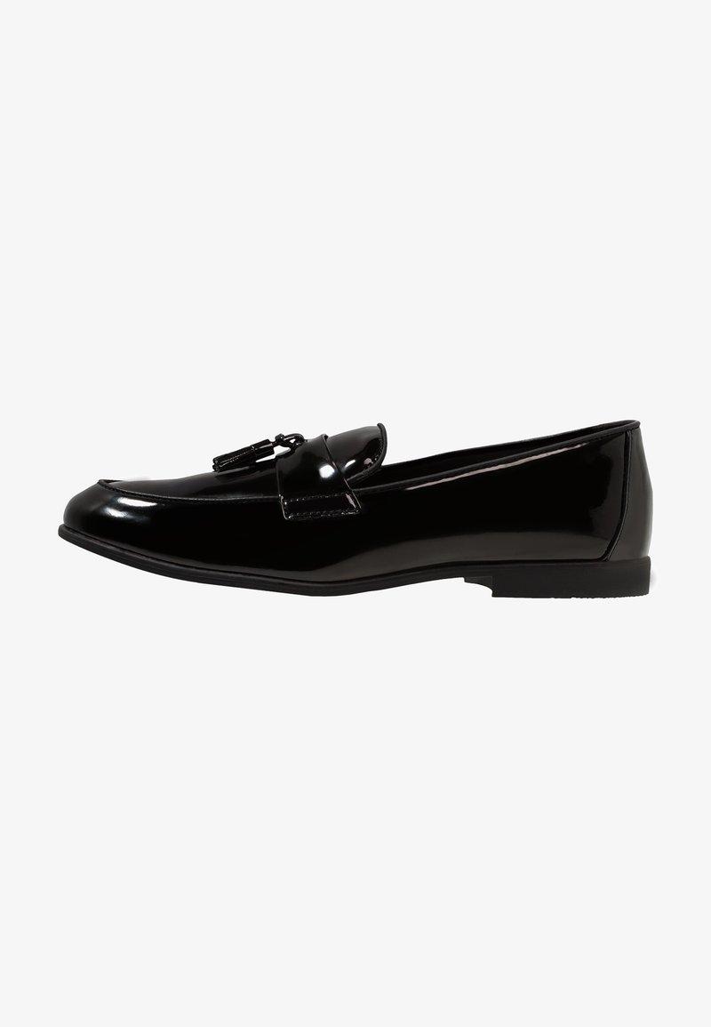 Topman - PRINCE PATENT LOAFER - Eleganckie buty - black