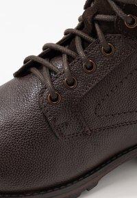 Topman - JACKSON CUFF BOOT - Stivaletti stringati - brown - 5