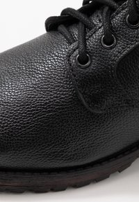 Topman - JACKSON CUFF BOOT - Lace-up ankle boots - black - 5