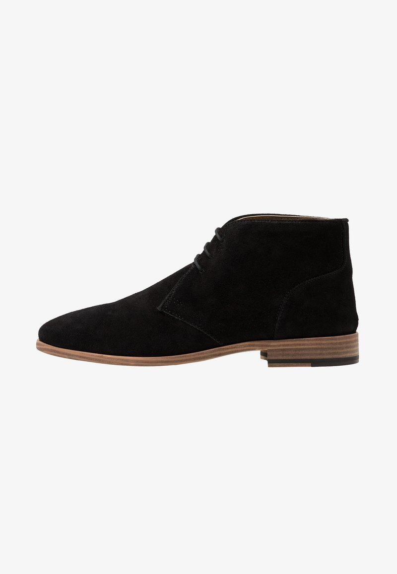 Topman - FENN CHUKKA - Smart lace-ups - black