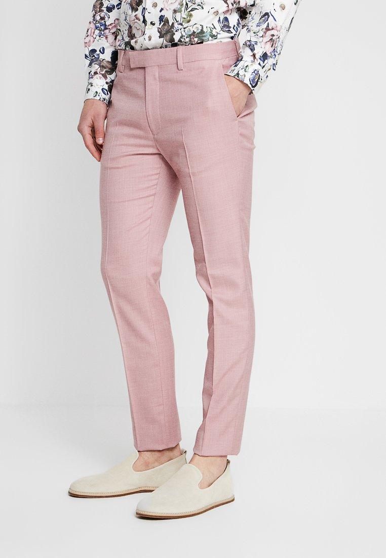 Topman - PEACH SKIN MAKO - Pantalón de traje - pink